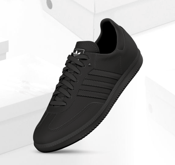 all black adidas shoes